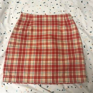 vintage plaid mini skirt ❤️🧡💛
